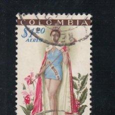 Sellos: COLOMBIA A 315 USADA, MISS UNIVERSO 1959, . Lote 25935162