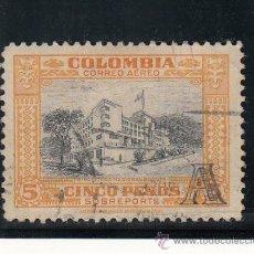 Sellos: COLOMBIA A 214 USADA, BIBLIOTECA NACIONAL DE BOGOTA, SOBRECARGADO. Lote 25935861