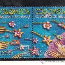 Sellos: COLOMBIA 1117/8 SIN CHARNELA, TEMA UPAEP, EL NUEVO MILENIO SIN ARMAS, . Lote 25955233