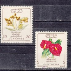 Sellos: COLOMBIA 579/80 SIN CHARNELA, FLORES, . Lote 26052331