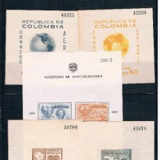 Sellos: COLOMBIA. HOJAS BLOQUES. Lote 34708893