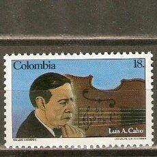 Sellos: COLOMBIA YVERT NUM. 880 ** SERIE COMPLETA SIN FIJASELLOS . Lote 150366493