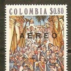 Sellos: COLOMBIA CORREO AEREO YVERT NUM. 568 ** SERIE COMPLETA SIN FIJASELLOS. Lote 58407925