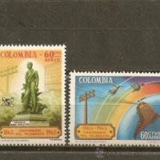 Sellos: COLOMBIA CORREO AEREO YVERT NUM. 449/50 ** SERIE COMPLETA SIN FIJASELLOS. Lote 58407938