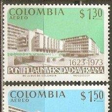 Sellos: COLOMBIA CORREO AEREO YVERT NUM. 559/60 ** SERIE COMPLETA SIN FIJASELLOS. Lote 58407969