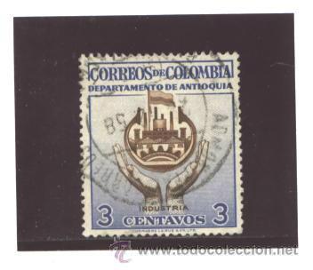 COLOMBIA 1958 - YVERT NRO. ANTIOQUIA INDUSTRIA - USADO (Sellos - Extranjero - América - Colombia)
