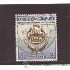 Sellos: COLOMBIA 1958 - YVERT NRO. ANTIOQUIA INDUSTRIA - USADO. Lote 42806395