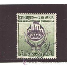 Sellos: COLOMBIA 1958 - YVERT NRO. ANTIOQUIA INDUSTRIA - USADO. Lote 42806420