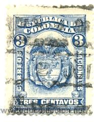 2-COLOM244. SELLO USADO COLOMBIA. YVERT Nº 244. ESCUDO DE COLOMBIA (Sellos - Extranjero - América - Colombia)