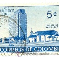 Sellos: 2-COLOM503. SELLO USADO COLOMBIA. YVERT Nº 503. IGLESIA DE SAN DIEGO. Lote 45396985