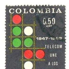 Sellos: 2-COLOM479AE. SELLO USADO COLOMBIA. YVERT Nº 479 AEREO. TELECOM. Lote 45728049