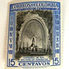 Francobolli: SELLOS COLOMBIA 1956. CATEDRAL DE SAL. NUEVO.. Lote 47572436