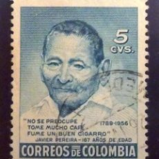 Sellos: SELLOS COLOMBIA 1956. USADO. JAVIER PEREIRA.. Lote 47854901