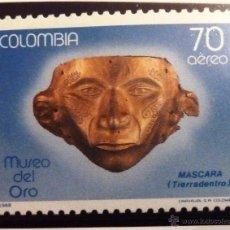 Francobolli: SELLOS COLOMBIA 1988. NUEVO. MASCARA.. Lote 47857110