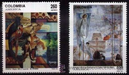 COLOMBIA 1992 SERIE UPAEP DESCUBRIMIENTO DE AMERICA NUEVO LUJO MNH *** SC (Sellos - Extranjero - América - Colombia)