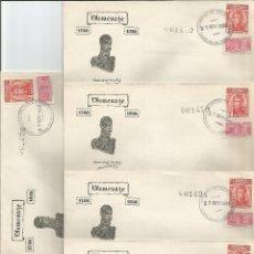Sellos: 1950 - SOBRE PRIMER DÍA HOMENAJE A ANTONIO BARAYA - COLOMBIA *5 SOBRES*. Lote 51126880