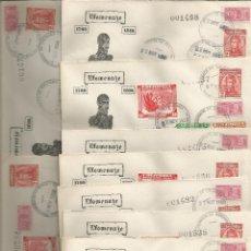 Sellos: 1950 - SOBRE PRIMER DÍA HOMENAJE A ANTONIO BARAYA - COLOMBIA *9 SOBRES*. Lote 51126909