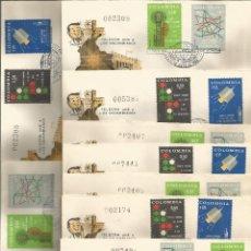 Sellos: 1968 - SOBRE PRIMER DÍA TELECOMUNIACACIONES - COLOMBIA *9 SOBRES*. Lote 51126913