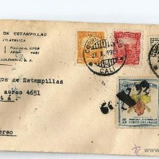 Sellos: COLOMBIA COREO AEREO 1949 CARTA VOLADA DESDE CALI A BOGOTA. Lote 54253144