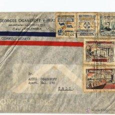 Sellos: COLOMBIA CORREO AEREO 1944 CARTA VOLADA DESDE BARRANQUILLA A CALI. Lote 54253181
