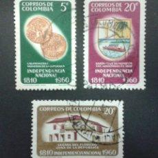 Sellos: SELLOS DE COLOMBIA. YVERT 582/4.. SERIE COMPLETA USADA. . Lote 56178579