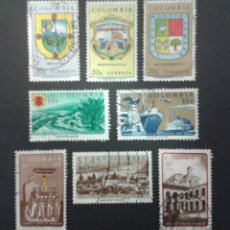 Sellos: SELLOS DE COLOMBIA. YVERT 594/6 + A398/402.. SERIE COMPLETA USADA. . Lote 56178618