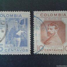 Sellos: SELLOS DE COLOMBIA. YVERT 412/3. SERIE COMPLETA USADA. . Lote 56179155