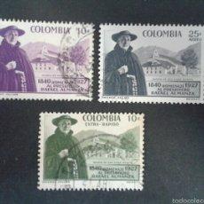 Sellos: SELLOS DE COLOMBIA. YVERT 555 + A-311/12. SERIE COMPLETA USADA. . Lote 56193552