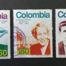 Sellos: SELLOS DE COLOMBIA. YVERT 1006/08 (FALTA 1009) SERIE CORTA USADA.. Lote 56193569
