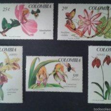 Sellos: SELLOS DE COLOMBIA. FLORA. YVERT 628/9 + A-470/2. SERIE COMPLETA NUEVA SIN CHARNELA.. Lote 56193658