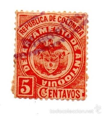 COLOMBIA-ANTIOQUIA-1892-N-82 (Sellos - Extranjero - América - Colombia)
