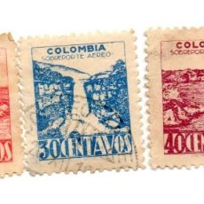 Sellos: COLOMBIA-1945-SERIE-458/60/61. Lote 56489367