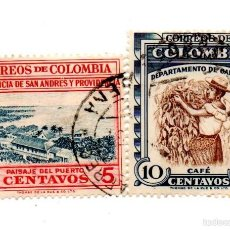 Sellos: COLOMBIA-1956-N.754/756. Lote 56506790