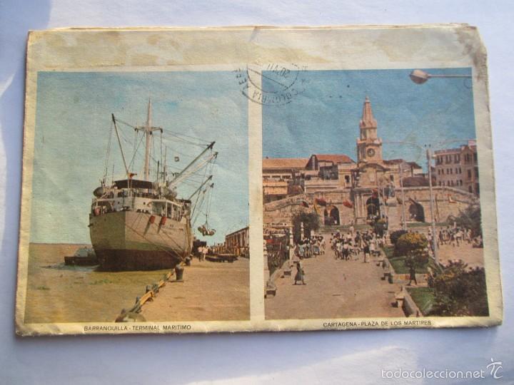 Sellos: CARTA COLOMBIA 1965 BOTOGA MEDELLIN BARRANQUILLA CARTAGENA BUCARAMANGA CALI - Foto 2 - 56861361