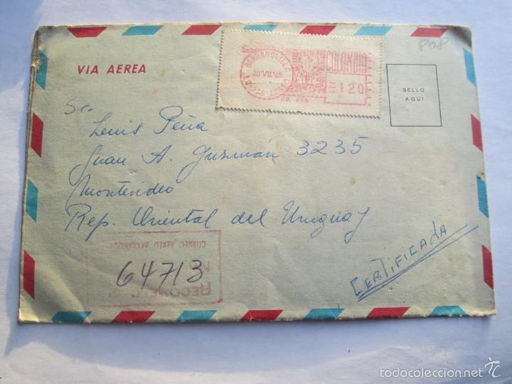 Sellos: CARTA COLOMBIA 1965 BOTOGA MEDELLIN BARRANQUILLA CARTAGENA BUCARAMANGA CALI - Foto 4 - 56861361