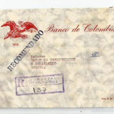 Sellos: COLOMBIA 1978 CORREO INTERIOR CARTA DEL BANCO DE COLOMBIA. Lote 58298914