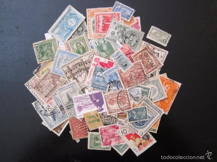 89 SELLOS USADOS ANTIGUOS COLOMBIA (Sellos - Extranjero - América - Colombia)