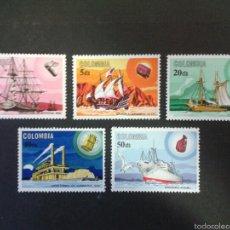 Francobolli: SELLOS DE COLOMBIA. BARCOS. YVERT 615/9. SERIE COMPLETA NUEVA SIN CHARNELA.. Lote 58884917