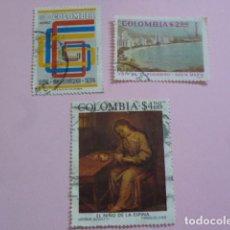 Sellos: LOTE 3 SELLOS DE COLOMBIA, AÑOS 70.CIRCULADOS. Lote 61985720