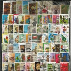Sellos: LOTE DE 100 SELLOS VARIADOS DE COLOMBIA USADOS EN PERFECTO ESTADO. Lote 62039508