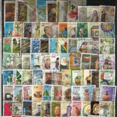 Sellos: LOTE DE 100 SELLOS VARIADOS DE COLOMBIA USADOS EN PERFECTO ESTADO. Lote 62039752