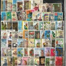 Sellos: LOTE DE 100 SELLOS VARIADOS DE COLOMBIA USADOS EN PERFECTO ESTADO. Lote 62039848