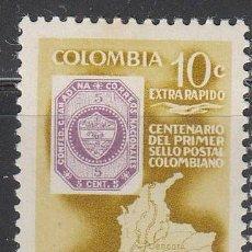 Sellos: COLOMBIA 873, CENTENARIO DEL SELLO COLOMBIANO, NUEVO CON SEÑAL DE CHARNELA. Lote 64710499