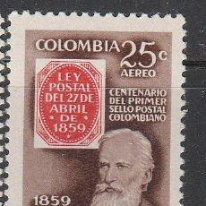 Sellos: COLOMBIA 870, CENTENARIO DEL SELLO COLOMBIANO, NUEVO CON SEÑAL DE CHARNELA. Lote 64710875