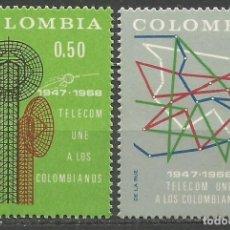 Sellos: COLOMBIA YVERT NUM. 634/635 ** SERIE COMPLETA SIN FIJASELLOS. Lote 66574798