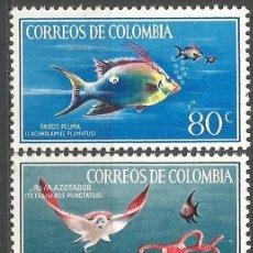 Sellos: COLOMBIA YVERT NUM. 620/621 ** SERIE COMPLETA SIN FIJASELLOS. Lote 66582874