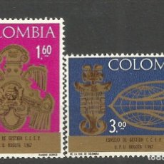 Sellos: COLOMBIA YVERT NUM. 632/633 ** SERIE COMPLETA SIN FIJASELLOS. Lote 66585458