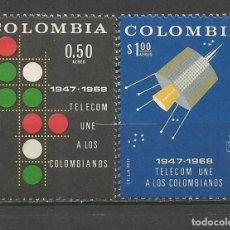 Sellos: COLOMBIA CORREO AEREO YVERT NUM. 479/480 ** SERIE COMPLETA SIN FIJASELLOS. Lote 66594370