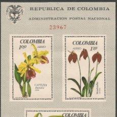 Sellos: COLOMBIA HOJA BLOQUE YVERT NUM. 27 ** NUEVA SIN FIJASELLOS. Lote 66617430