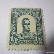 Sellos: REPUBLICA COLOMBIA 1899 ANTIOQUIA 1/2 CENTAVO SELLO ANTIGUO L11. Lote 67667945